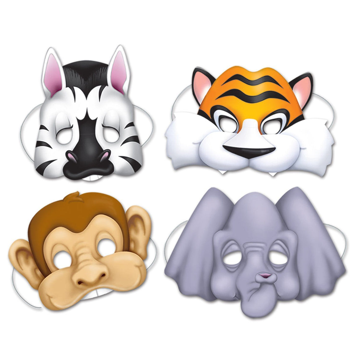 MASKS - JUNGLE ANIMAL 4 PACK
