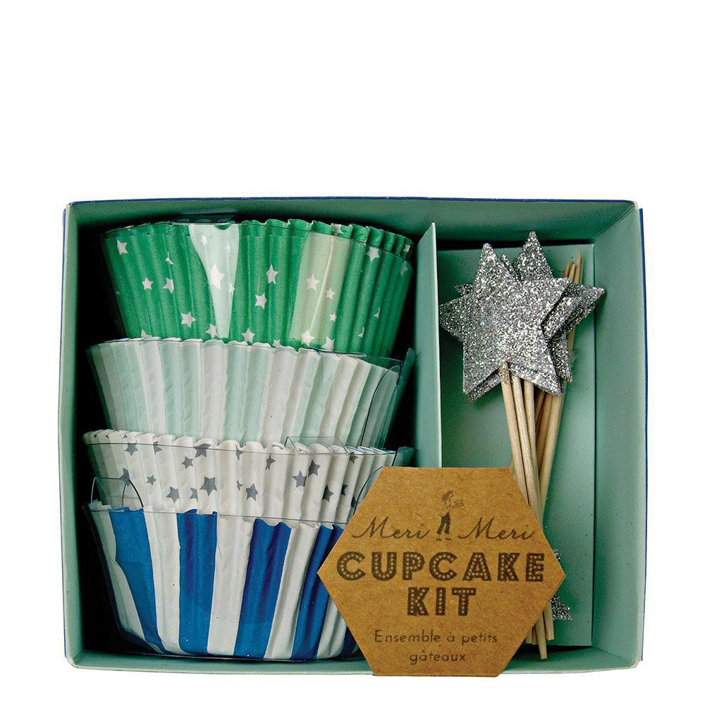 CUPCAKE KIT - MERI MERI STARS BLUE, Picks + Toppers, MERI MERI - Bon + Co. Party Studio
