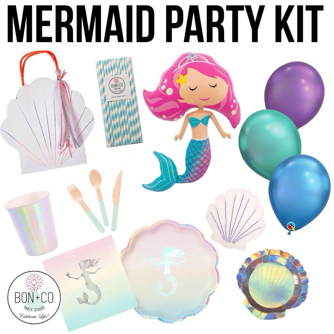 PARTY KIT - MERMAID, Party Kit, Bon + Co. Party Studio - Bon + Co. Party Studio