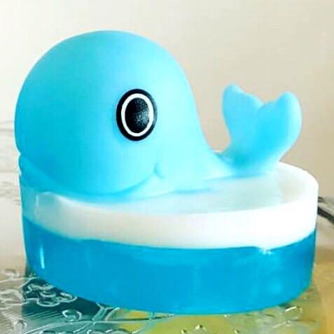 KIDS SOAP - BABY WHALE BATH TOY, BATH, Crafted Bath - Bon + Co. Party Studio