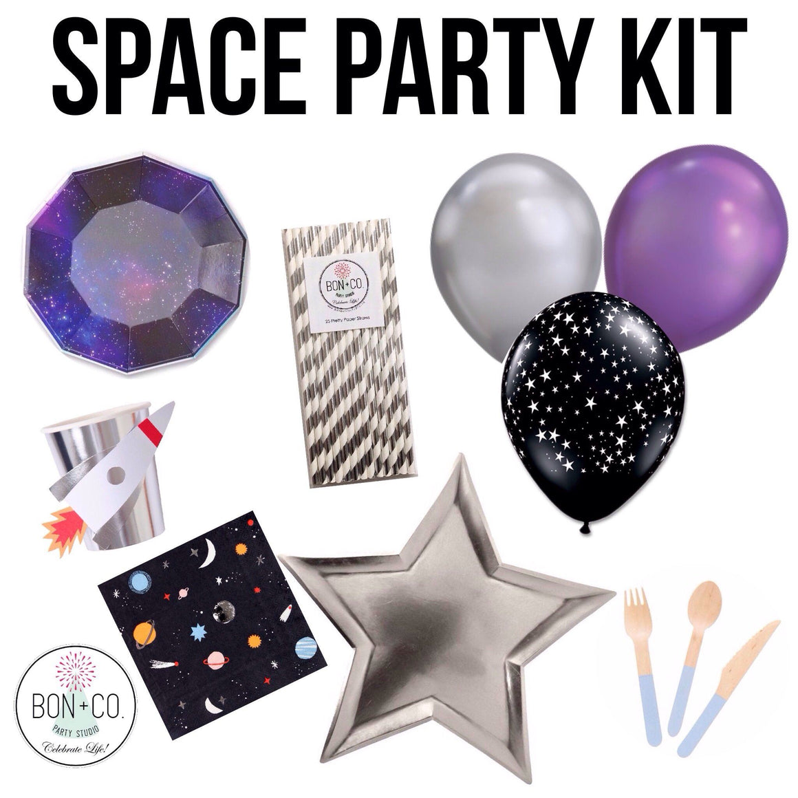 PARTY KIT - SPACE, Party Kit, Bon + Co. Party Studio - Bon + Co. Party Studio
