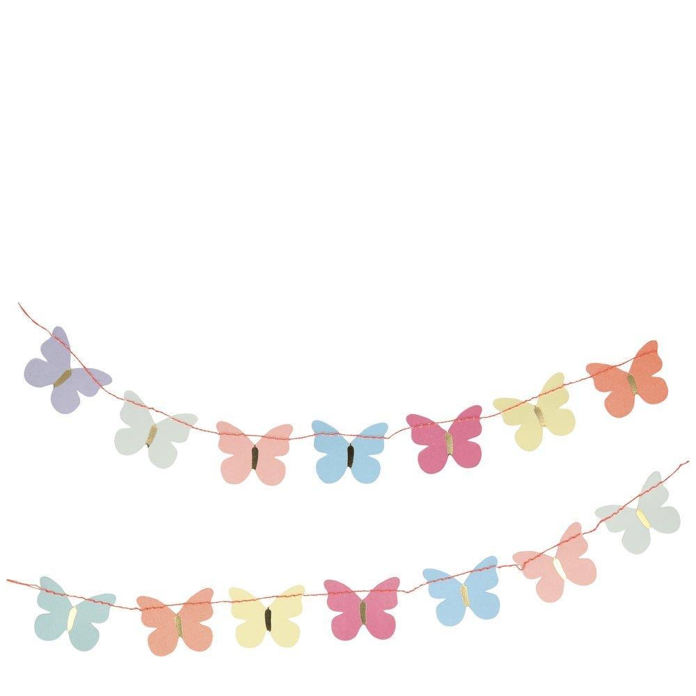 GREETING CARD - BUTTERFLY GARLAND THANK YOU