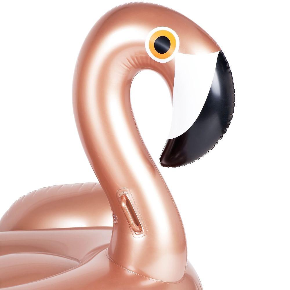 POOL FLOAT - LUXE RIDE-ON FLOAT ROSE GOLD FLAMINGO