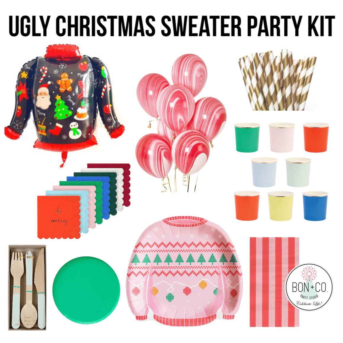 PARTY KIT - UGLY CHRISTMAS SWEATER