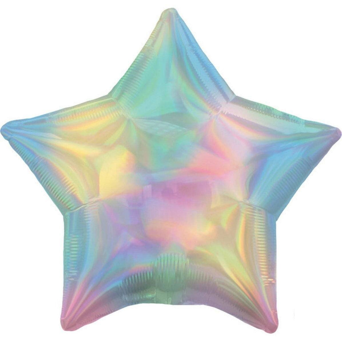 BALLOONS - STAR IRIDESCENT PASTEL RAINBOW, Balloons, QUALATEX - Bon + Co. Party Studio
