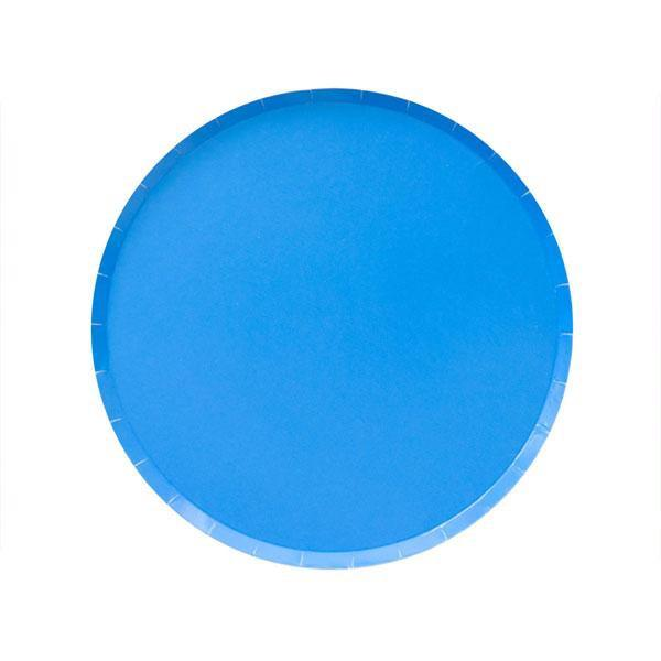 PLATES - SMALL POOL BLUE OH HAPPY DAY, PLATES, Oh happy day - Bon + Co. Party Studio