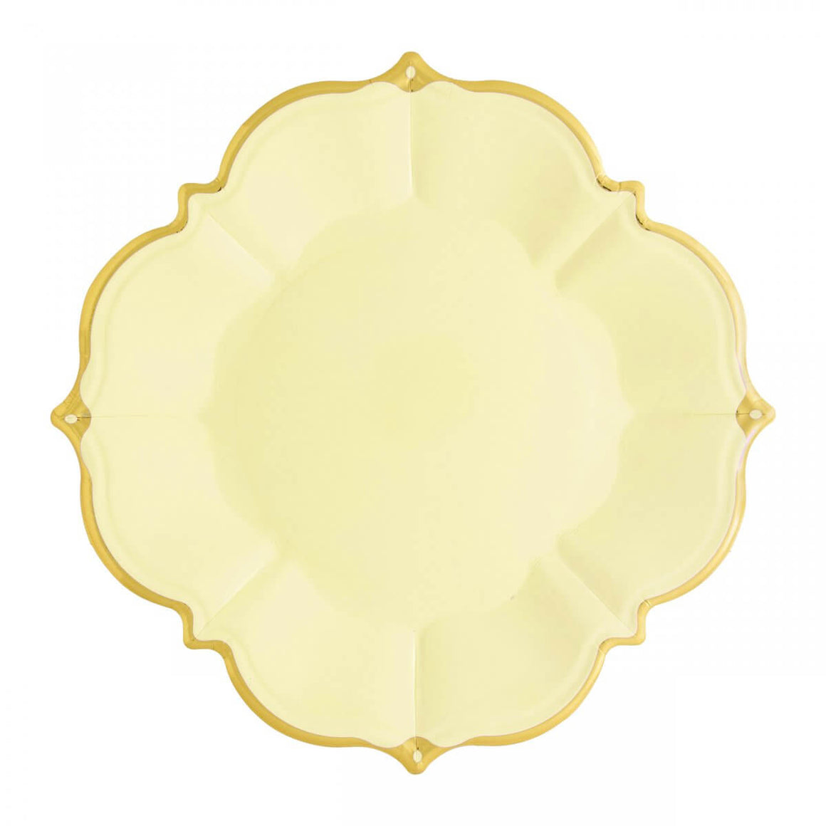 PLATES - LARGE LUNCHEON SCALLOPED YELLOW