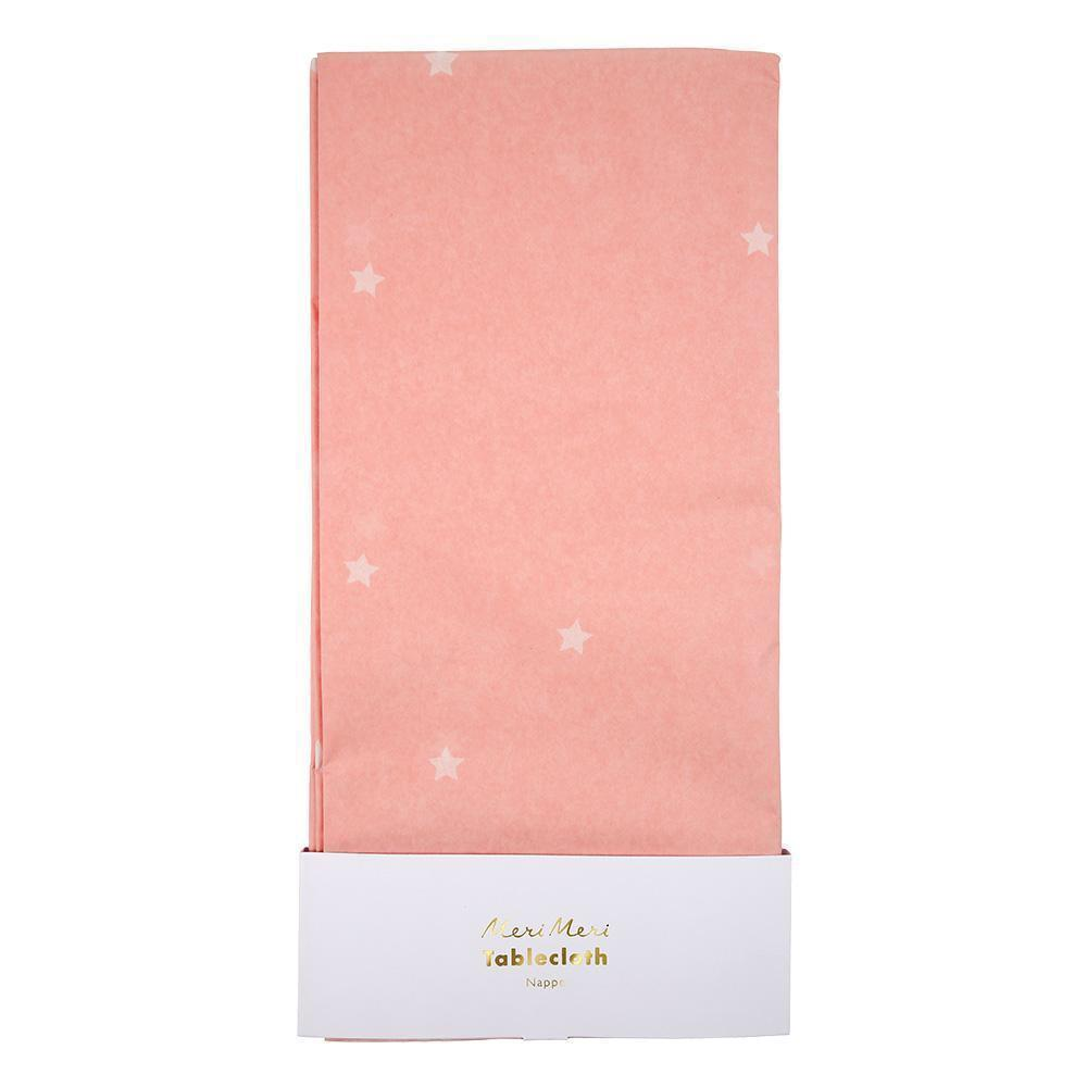 TABLECOVER - PINK SCATTERED STARS, tablecovers, MERI MERI - Bon + Co. Party Studio