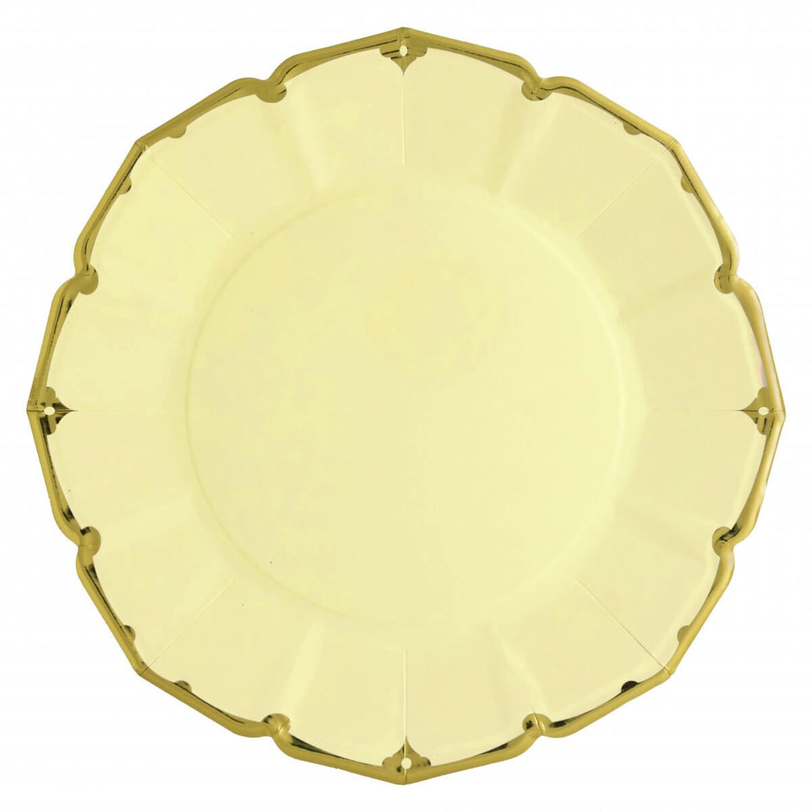 PLATES - DINNER SCALLOPED YELLOW