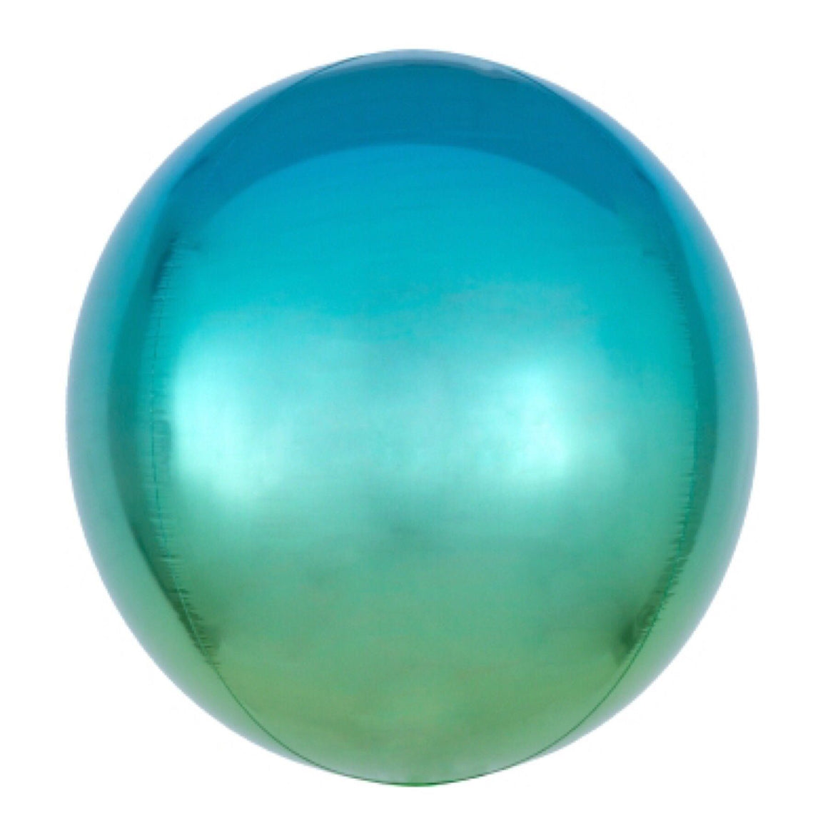 "BALLOON BAR - 16"" ORBZ ROUND OMBRE BLUE GREEN, Balloons, Anagram - Bon + Co. Party Studio"