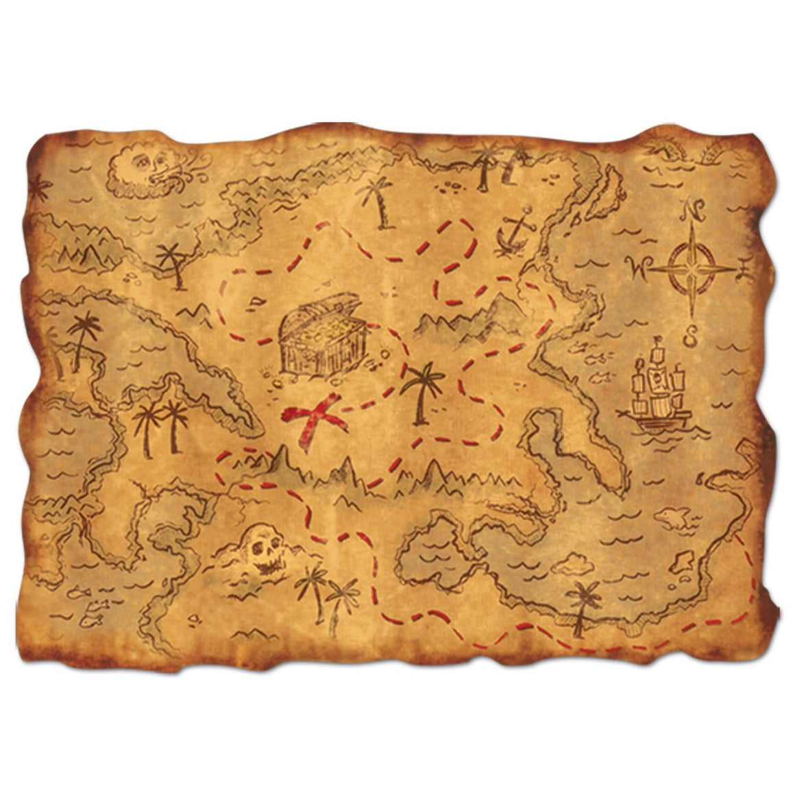 DECORATION - PIRATE'S TREASURE MAP