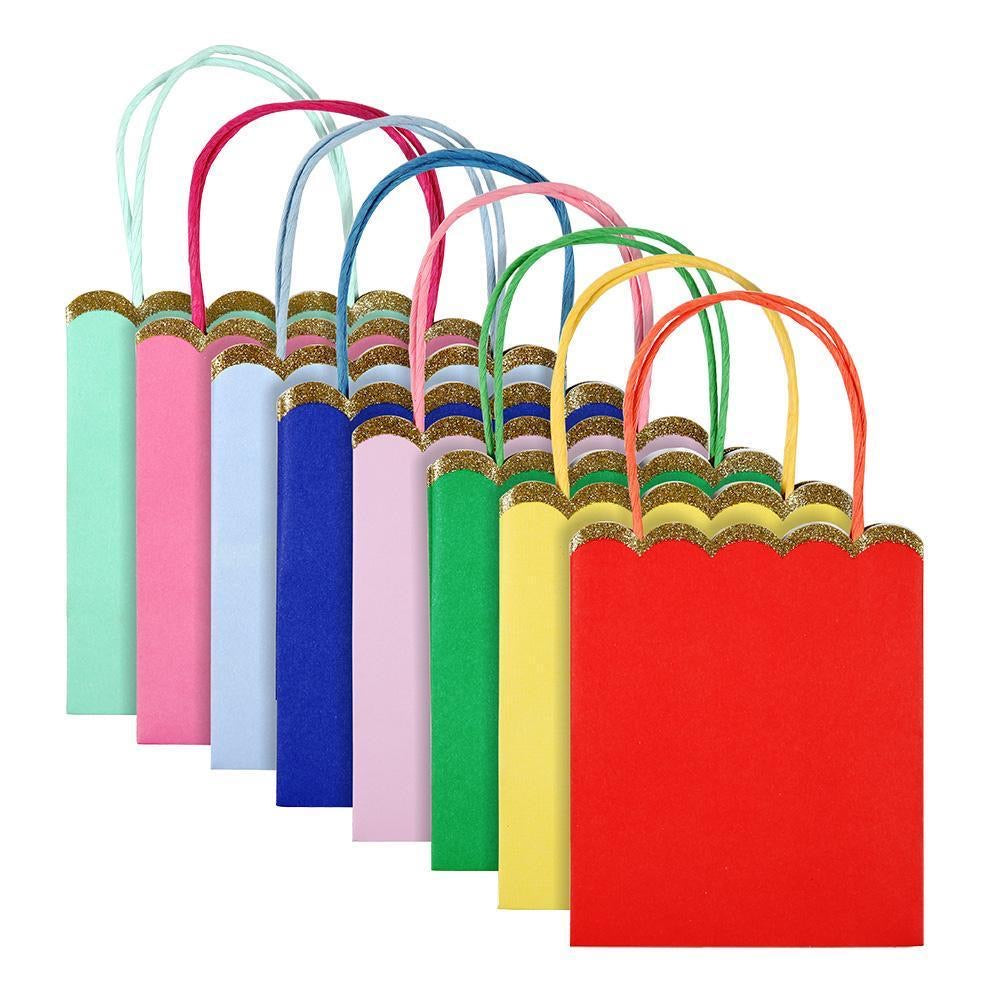 GIFT BAGS - MULTICOLOUR 8 PACK