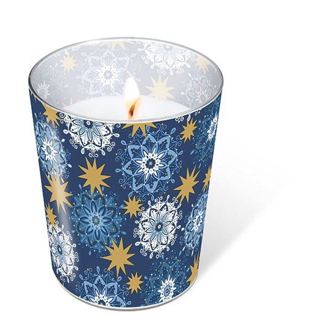 HOME - GLASS CANDLE FILIGREE STARS ** Sale **