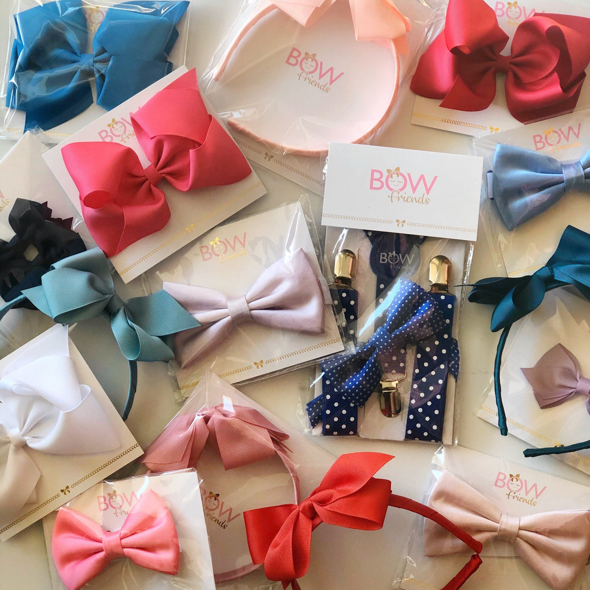 BOW FRIENDS - HAIR BOWS MINI 2-PACK, ACCESSORIES, We love you Connie - Bon + Co. Party Studio