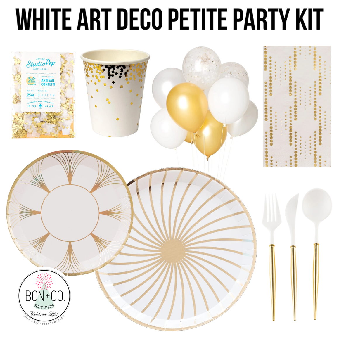 PETITE PARTY KIT LUXE - ART DECO WHITE