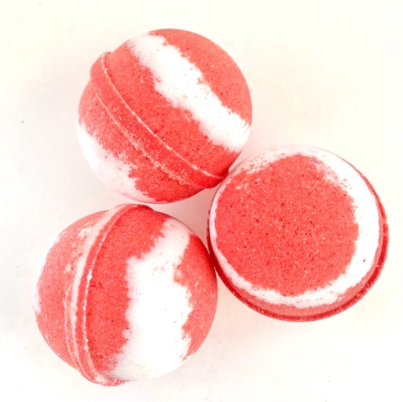 ARTISAN BATH BOMBS - COLOURBLAST CANDY CANE