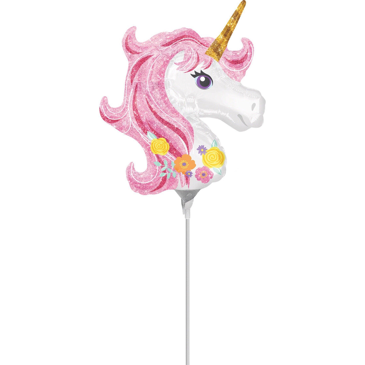 BALLOONS - UNICORN WAND FLORAL (Pre-Filled - Pick-Up Only), Balloons, Anagram - Bon + Co. Party Studio