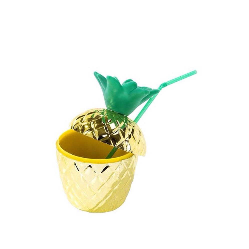 DRINKWARE - TUMBLER GOLD PINEAPPLE, Drinkware, TALKING TABLES - Bon + Co. Party Studio