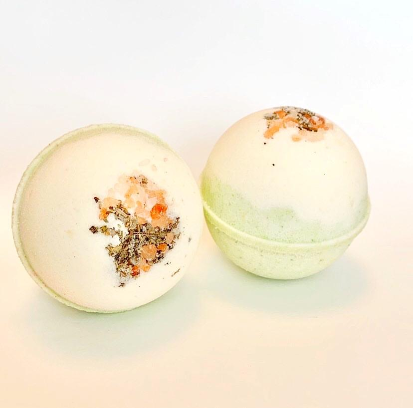 ARTISAN BATH BOMB - GRAPEFRUIT + SAGE, BATH, Crafted Bath - Bon + Co. Party Studio