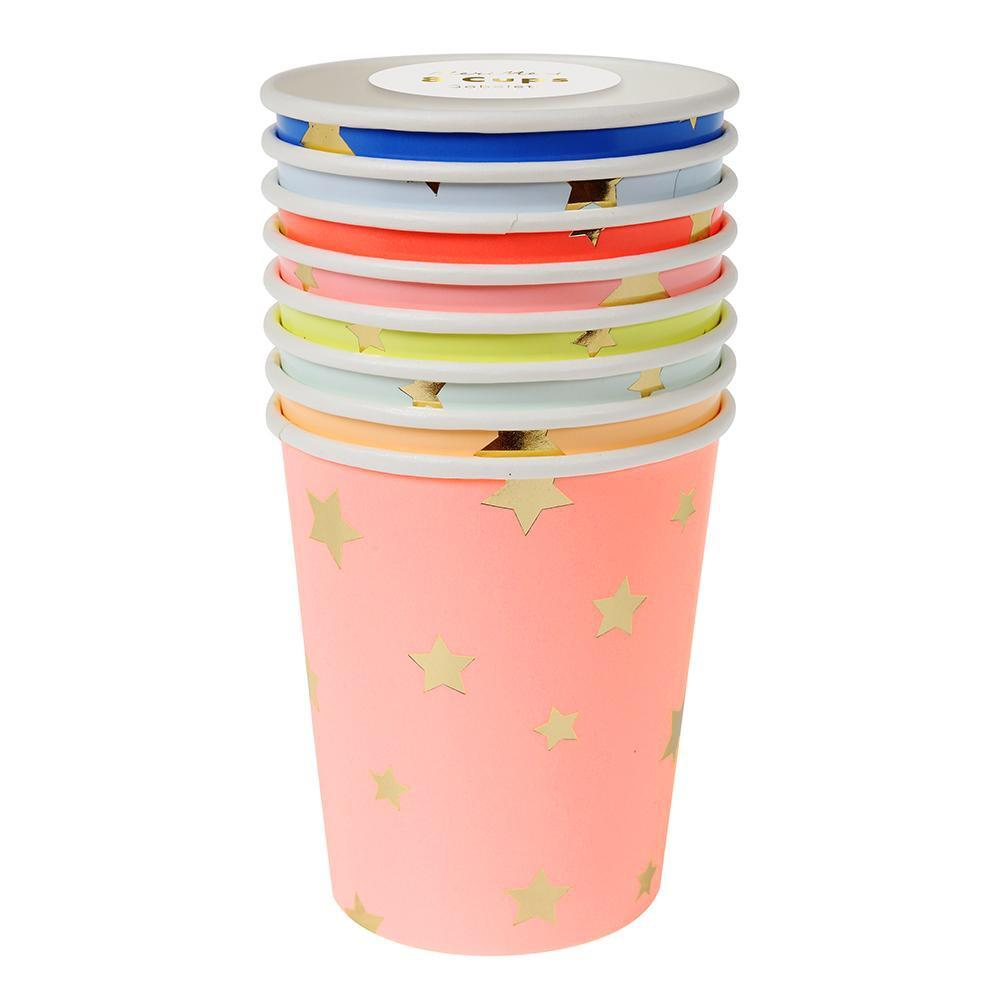 CUPS - MULTI COLOUR JAZZY STAR, CUPS, MERI MERI - Bon + Co. Party Studio