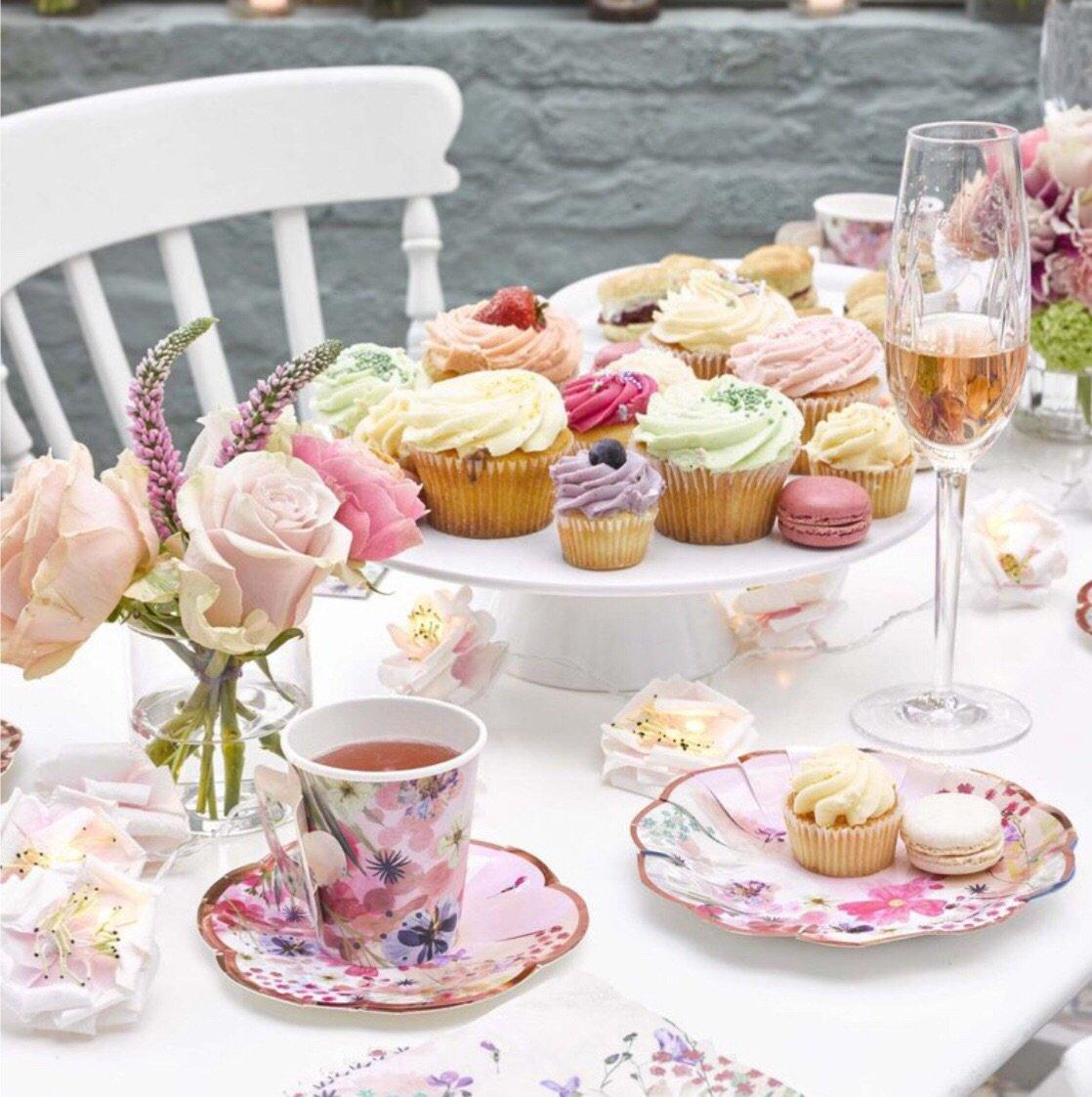 CUPS - BLOSSOM GIRLS TEACUP + SAUCER TALKING TABLES, CUPS, TALKING TABLES - Bon + Co. Party Studio