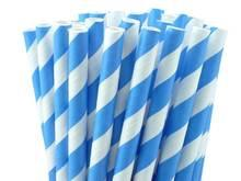 STRAWS - STRIPEY EUROPEAN BLUE