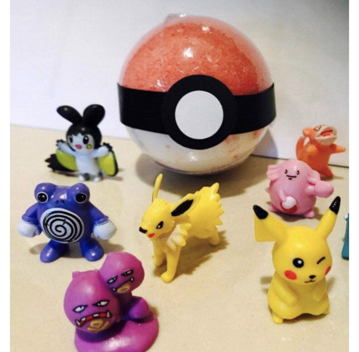 BATH FIZZY - LARGE SURPRISE TOY POKEBALL, BATH, Crafted Bath - Bon + Co. Party Studio