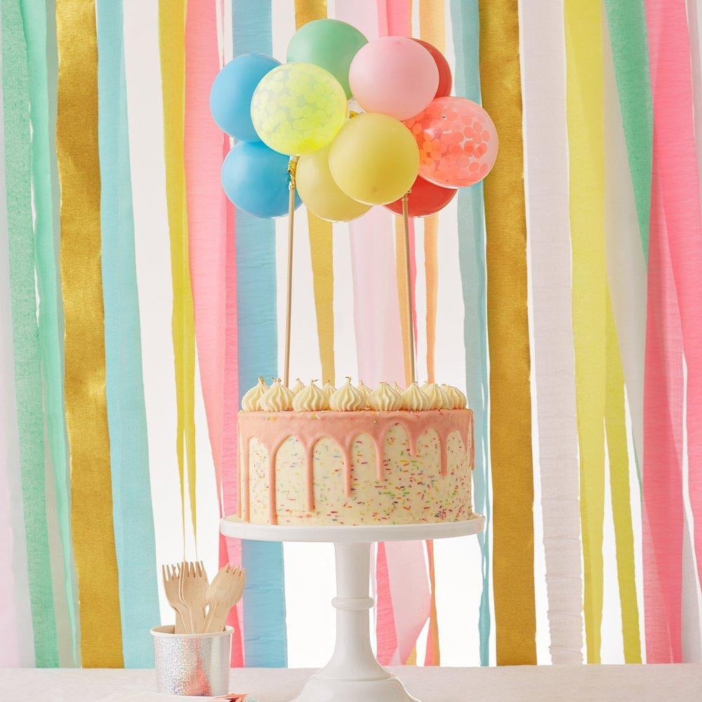 CAKE TOPPER - RAINBOW BALLOON MERI MERI