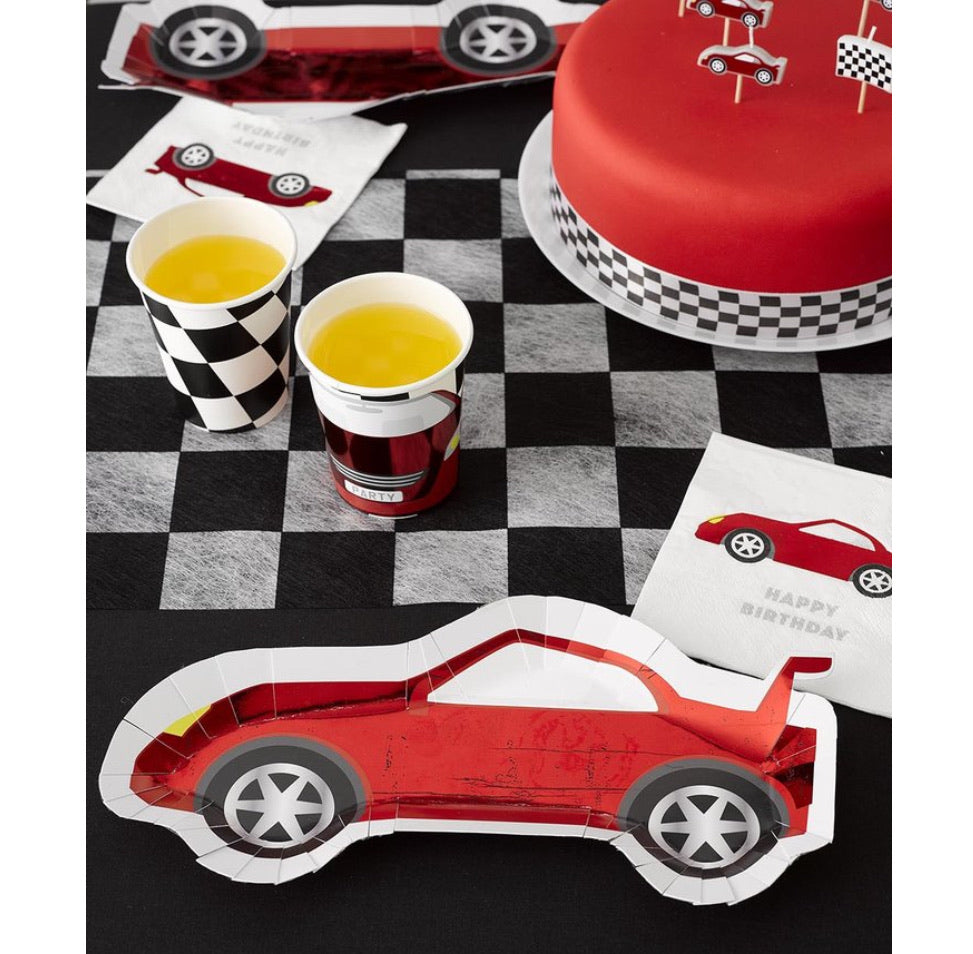 PLATES - RACE CAR RED