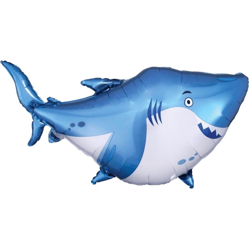 BALLOONS - SEA LIFE SHARK FRIENDLY, Balloons, Anagram - Bon + Co. Party Studio