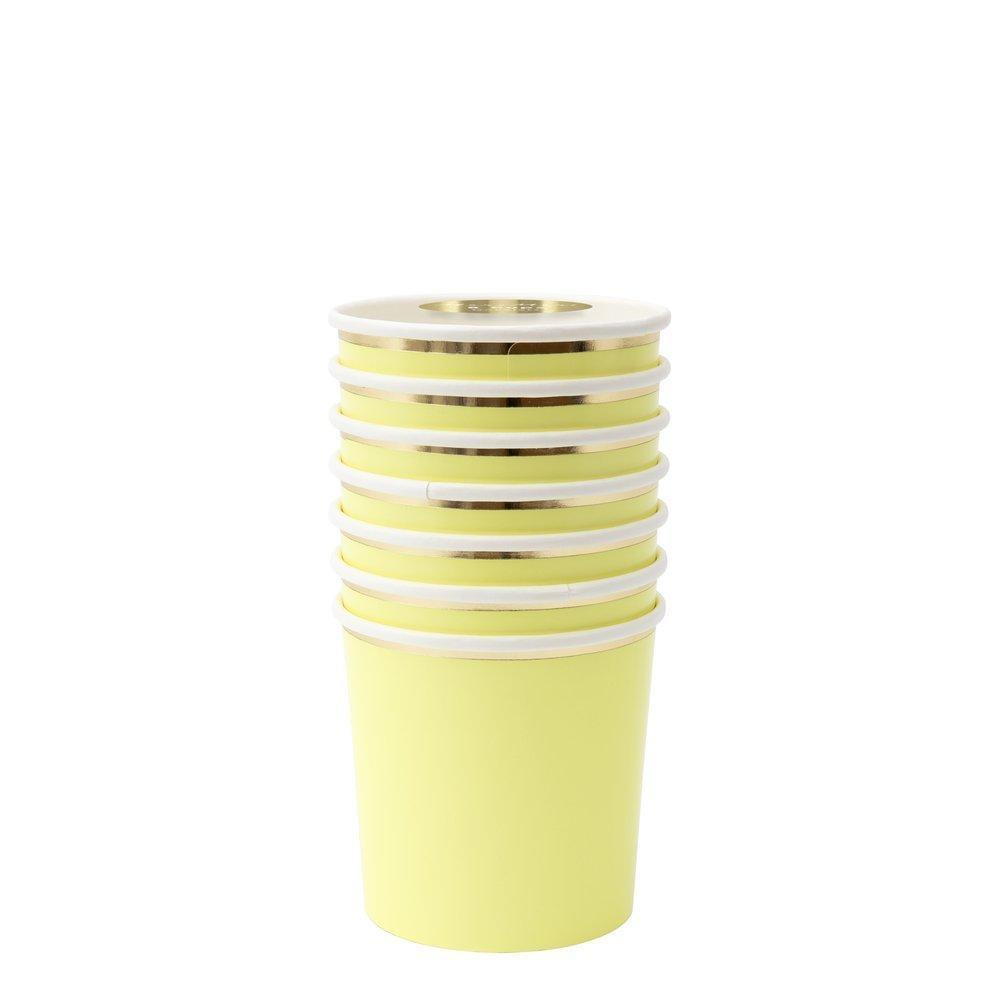 CUPS - MERI MERI TUMBLER PALE YELLOW, CUPS, MERI MERI - Bon + Co. Party Studio