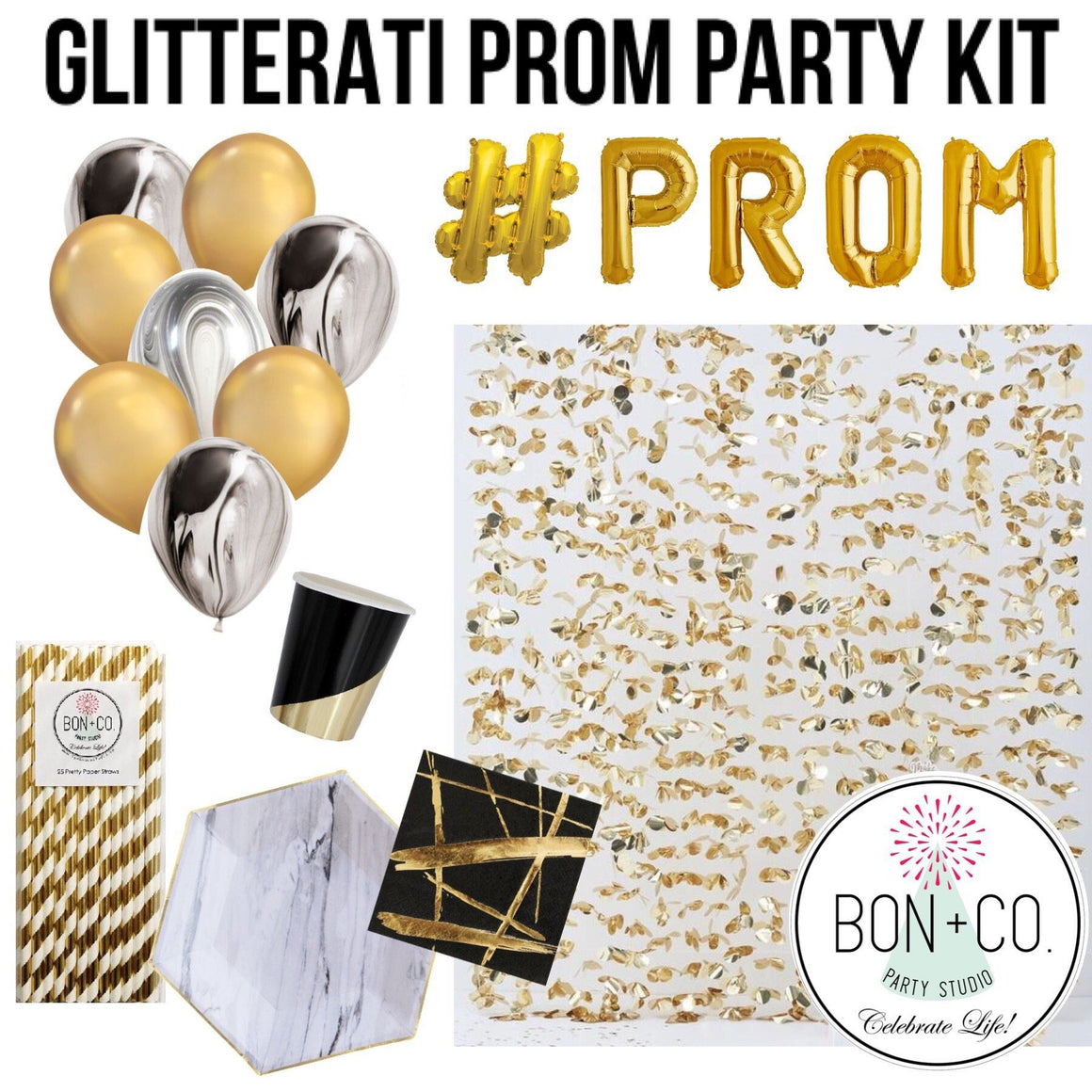 PARTY KIT - PROM GLITTERATI GOLD + MARBLE