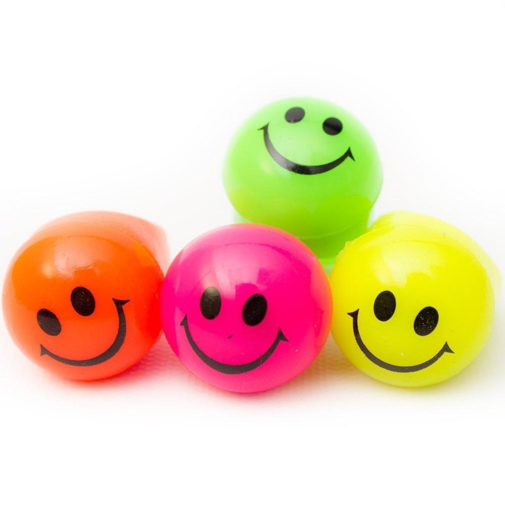 FAVOURS - SMILEY FACE BOUNCY BALL, FAVOURS, Amscan - Bon + Co. Party Studio