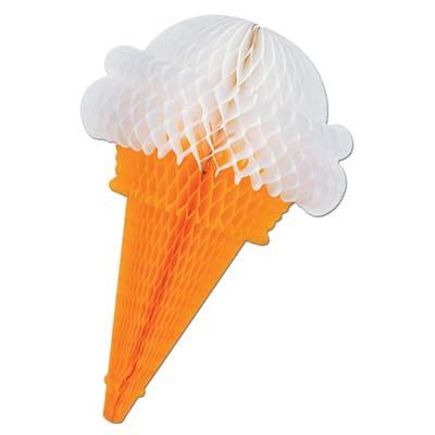 PARTY DECORATION - TISSUE ICE CREAM CONE, decorations, SKS - Beistle Co - Bon + Co. Party Studio