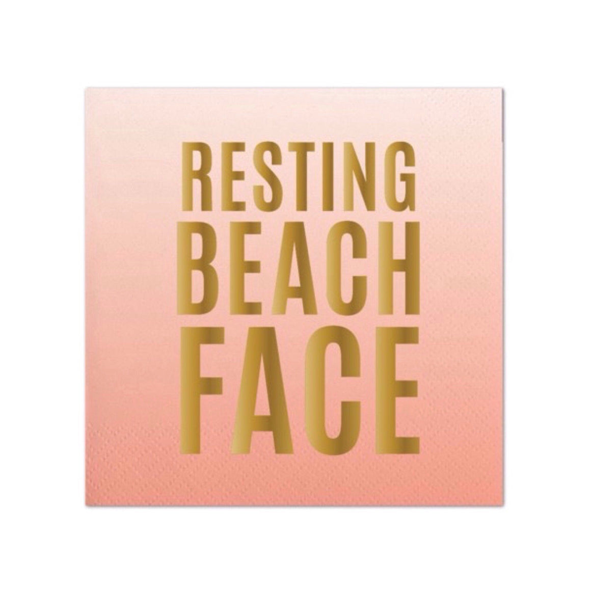 NAPKINS - COCKTAIL RESTING BEACH FACE