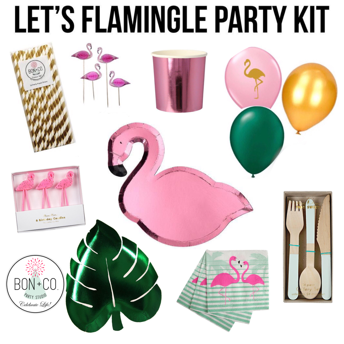 PARTY KIT - LET'S FLAMINGLE