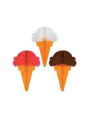 HANGING DECOR - TISSUE ICE CREAM CONE
