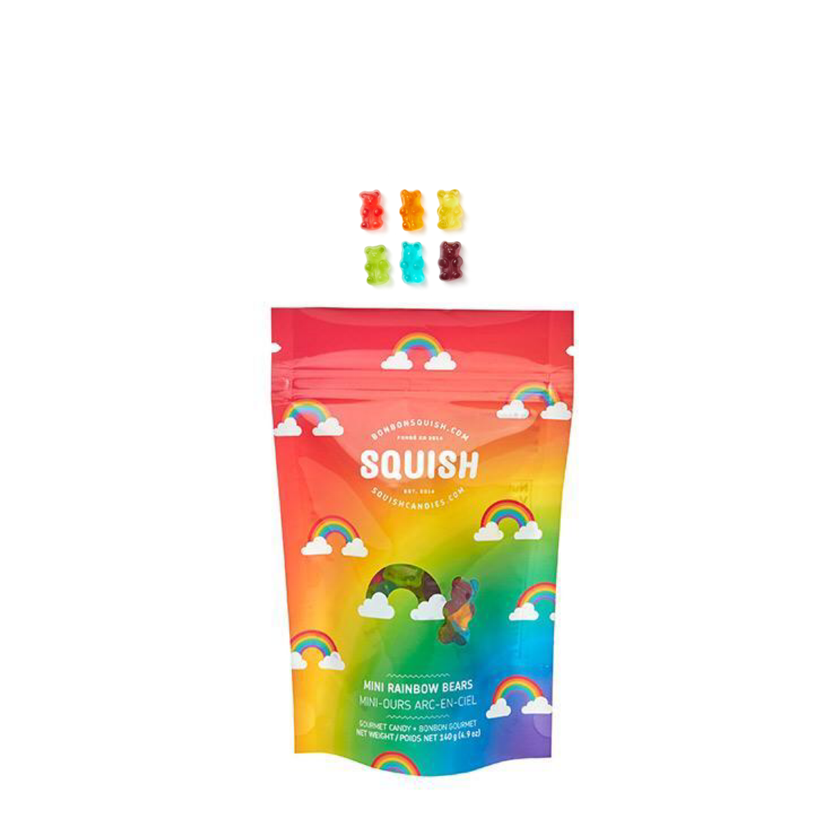 ARTISINAL CANDY - SQUISH RAINBOW MINI BEARS