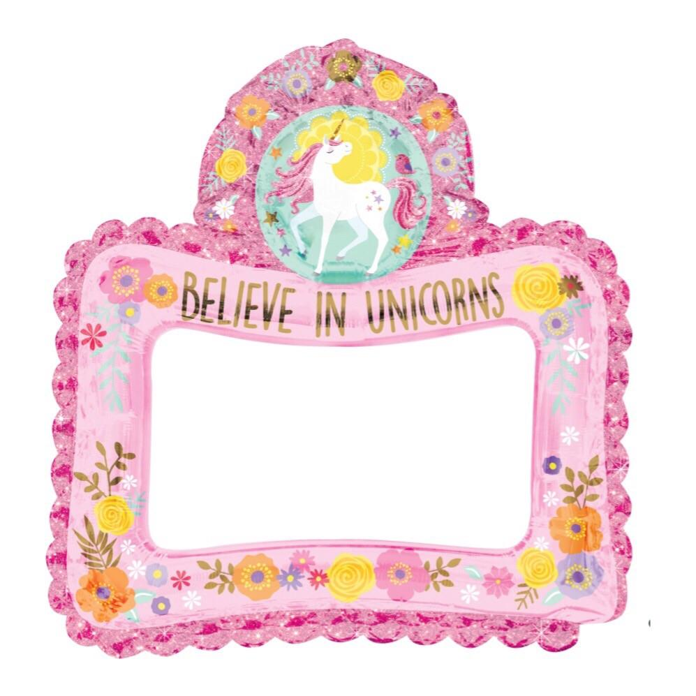 BALLOONS - UNICORN 8 MAGICAL SELFIE FRAME, Balloons, Anagram - Bon + Co. Party Studio