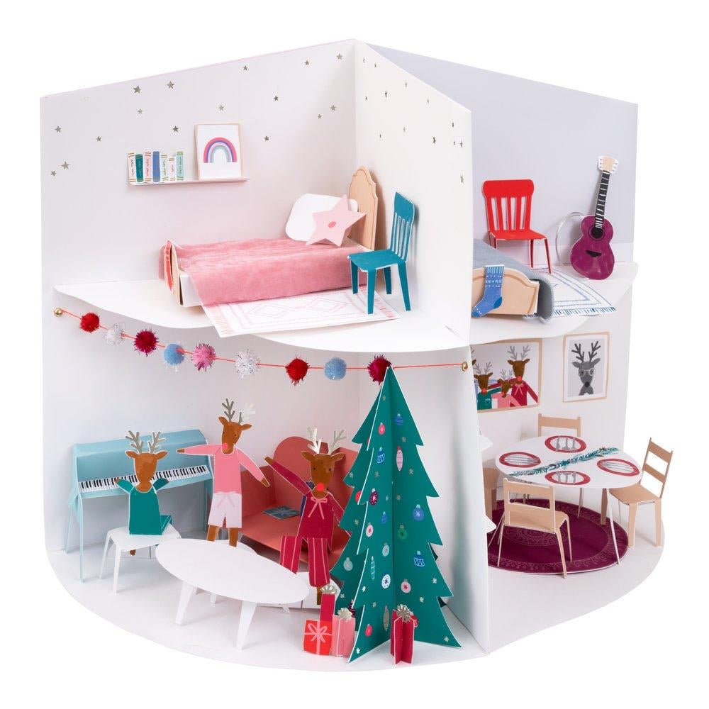ADVENT CALENDAR - FESTIVE HOUSE PAPER CRAFT