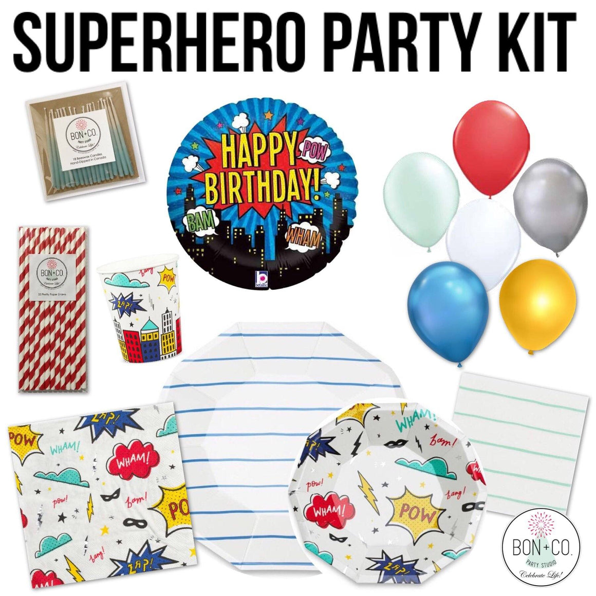 PARTY KIT - SUPERHERO, Party Kit, Bon + Co. Party Studio - Bon + Co. Party Studio