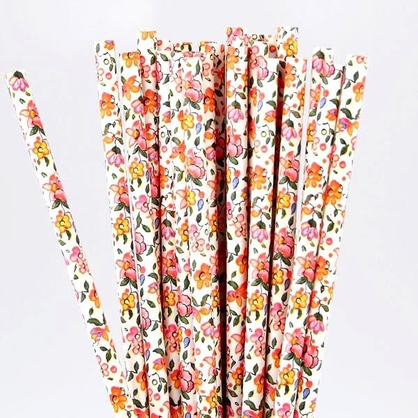 STRAWS - FLORAL