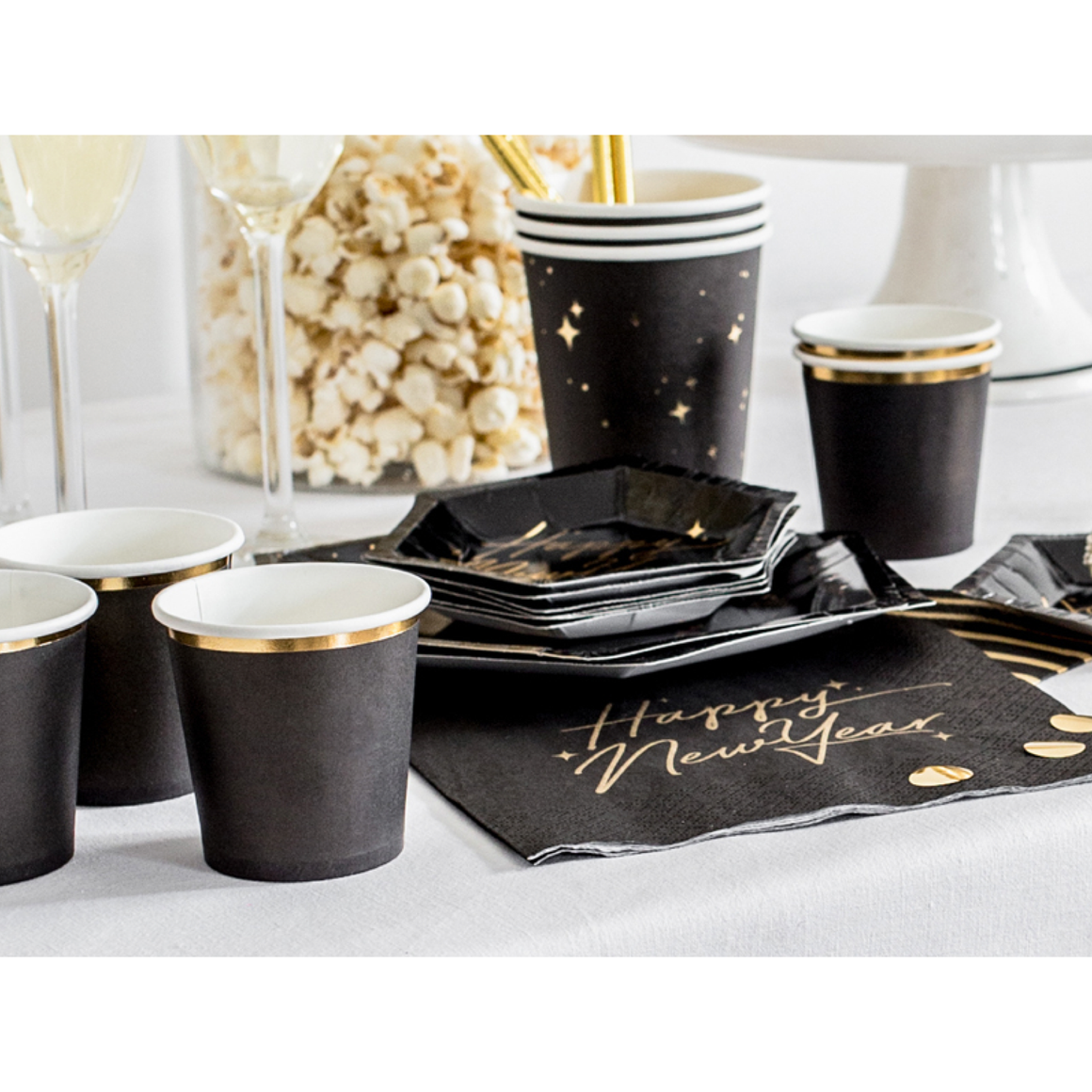 MINI CUPS - BLACK + GOLD