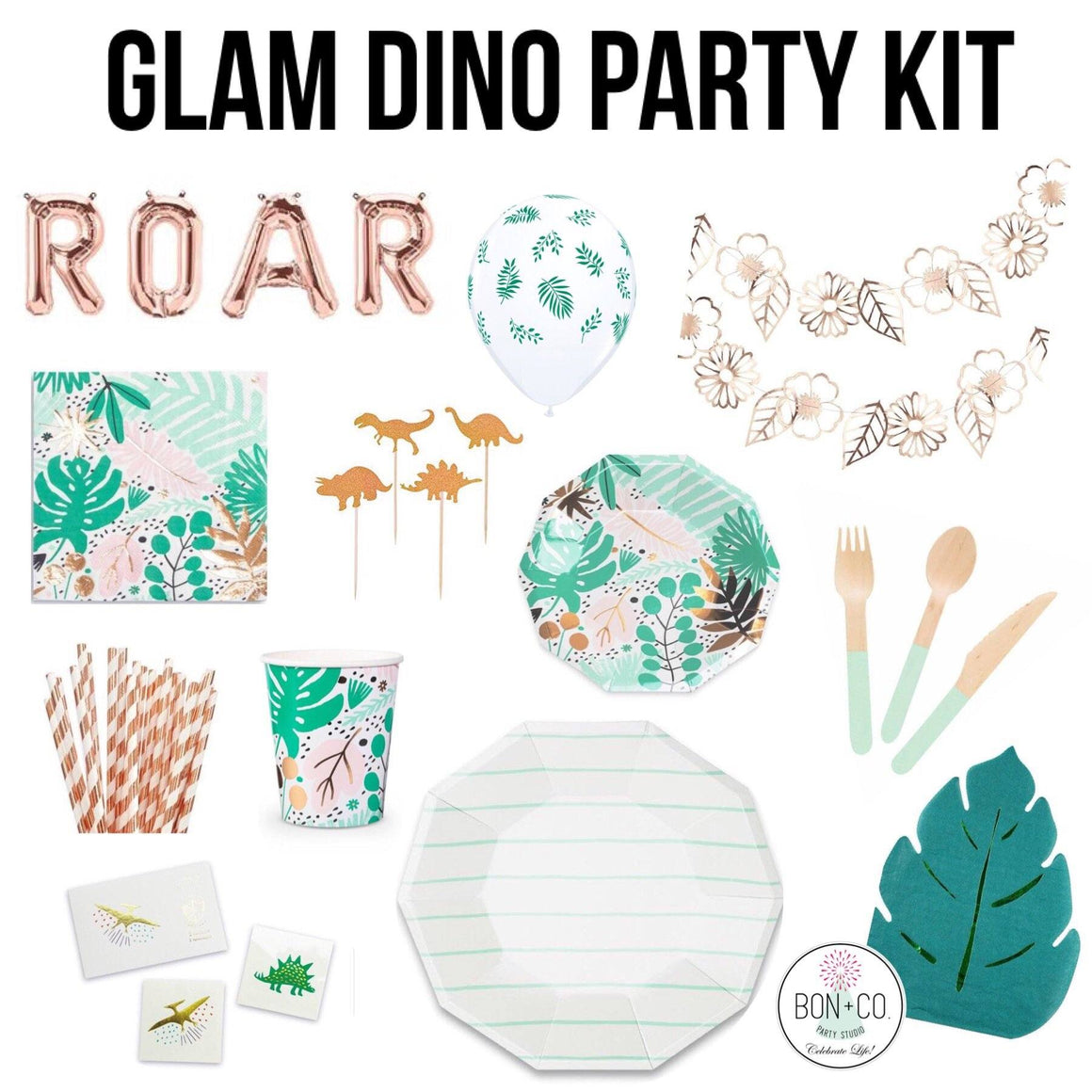 PARTY KIT - GLAM DINO, Party Kit, Bon + Co. Party Studio - Bon + Co. Party Studio