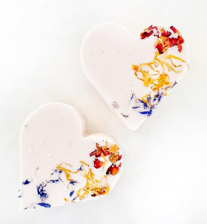 ARTISAN BATH BOMB - WILDFLOWER + HONEY, BATH, Crafted Bath - Bon + Co. Party Studio