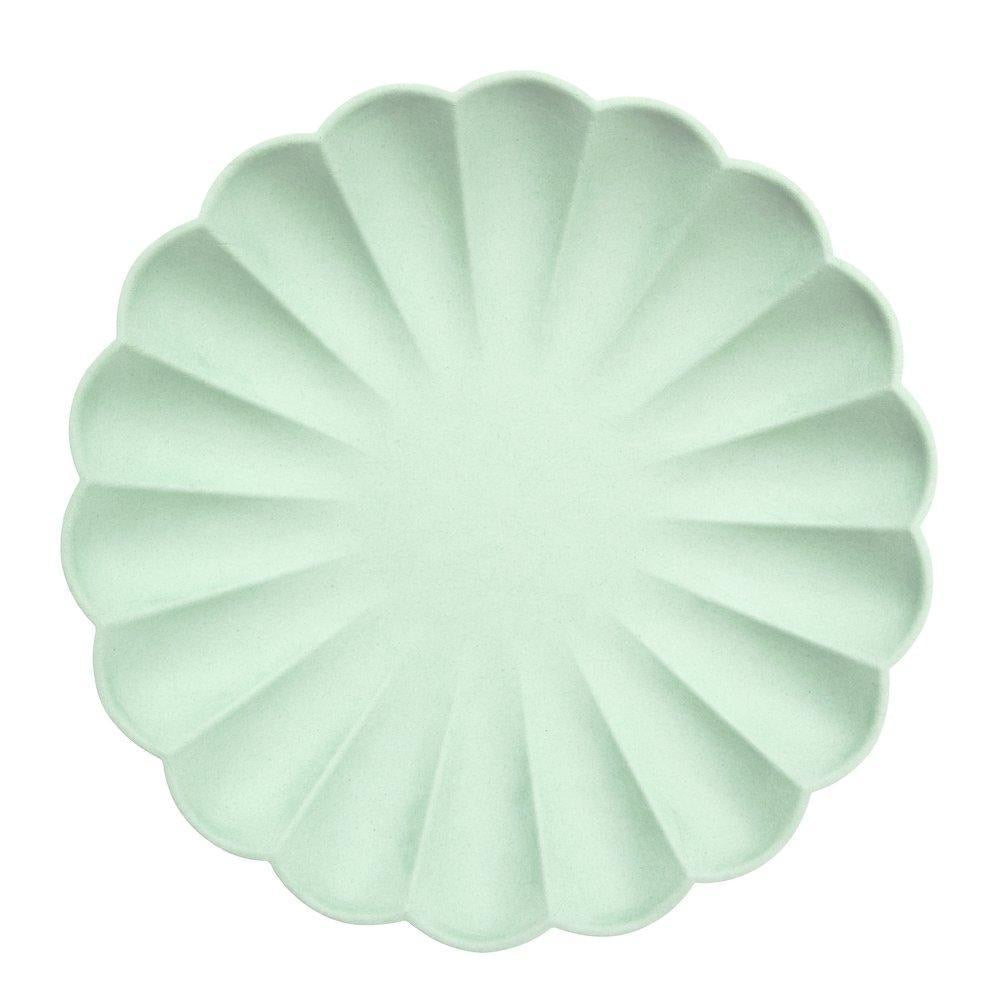 PLATES - LARGE PALE MINT SIMPLY ECO MERI MERI