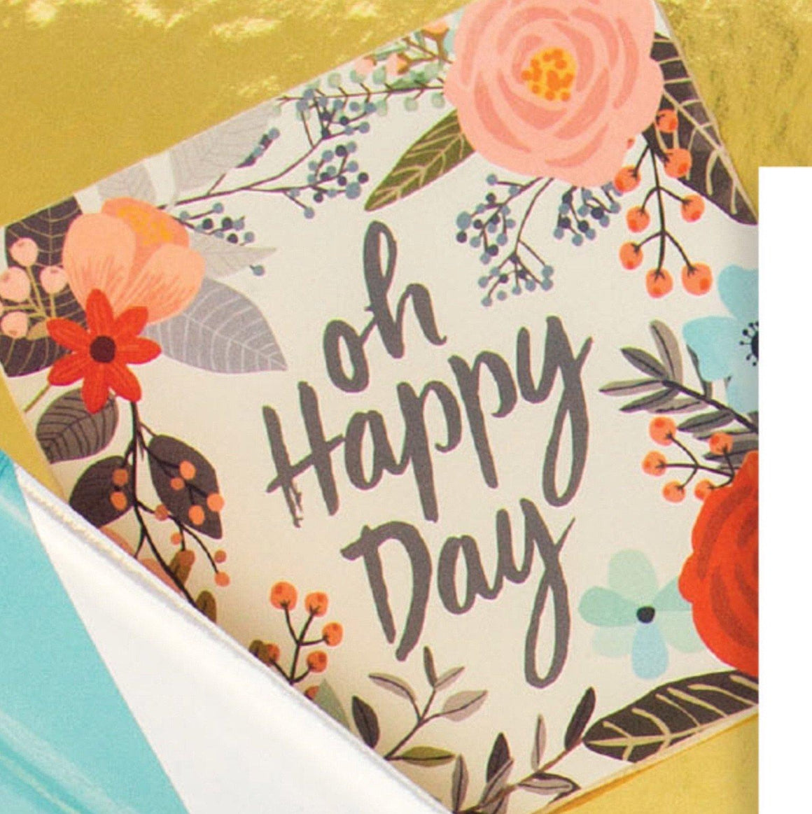 NAPKINS - COCKTAIL FLORAL OH HAPPY DAY