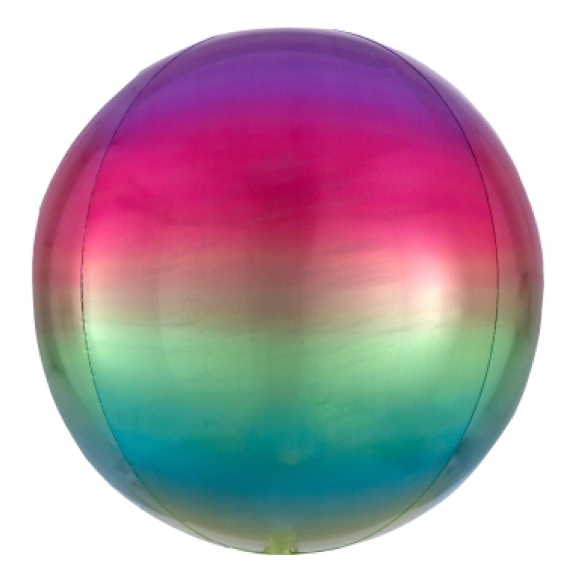 "BALLOON BAR - 16"" ORBZ ROUND OMBRE RAINBOW, Balloons, Anagram - Bon + Co. Party Studio"