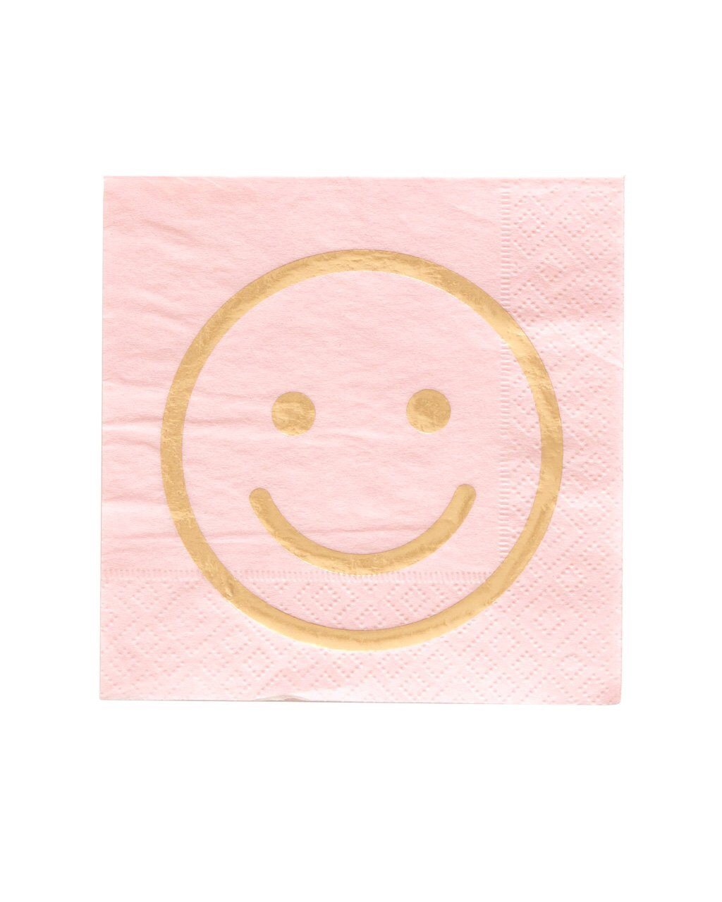 NAPKINS - COCKTAIL BLUSH SMILEY