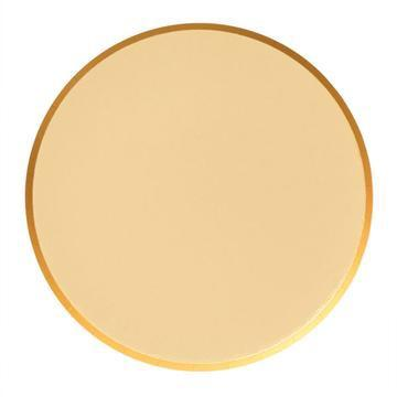 PLATES - LARGE GOLD OH HAPPY DAY